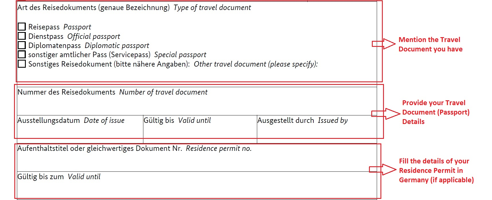How To Fill German National Visa Application Form Planforgermany Com 4 Plan For Germany